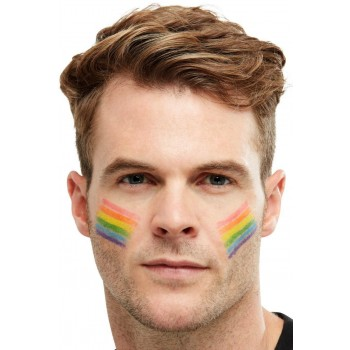 Smiffys Make-Up FX, Rainbow Grease Paint Stick Novelty Pride