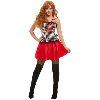 Deluxe Knife Throwers Assistant Fancy Dress Costume Circus Halloween