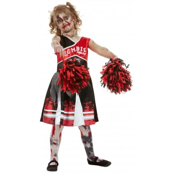 Zombie Cheerleader Fancy Dress Costume Halloween