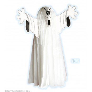 Ghost Neon H/Comb 55Cm - Fancy Dress (Halloween)