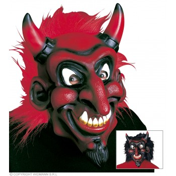 Devil Mask With Plush Hair - Fancy Dress (Halloween)