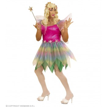 Xl Rainbow Fairy Mens Costume Mens Size 46-48 (Drag)