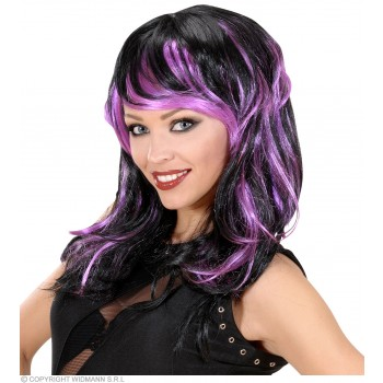 Bicolor Long Wavy Wigs - Polybag - 3 Col - Fancy Dress