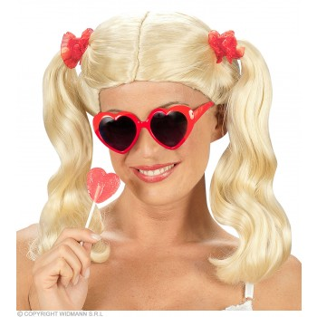 Lolita Wig Long Pigtails Blonde - Fancy Dress (Animals)