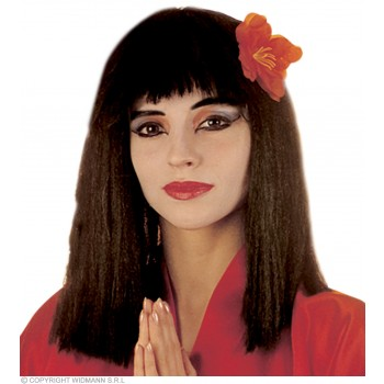 China Girl Wig With Flower Pbag - Fancy Dress