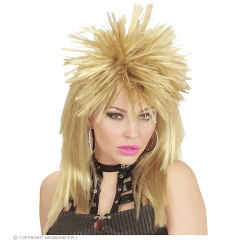 Rock Star Wig 4 Col Asstd - Fancy Dress