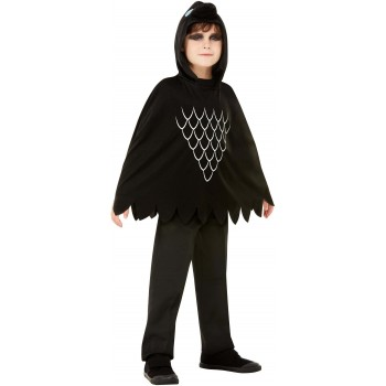 Scary Crow Poncho Halloween Fancy Dress
