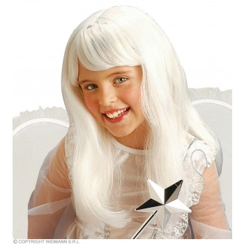 Angel Wig White For Kids - Fancy Dress (Christmas)