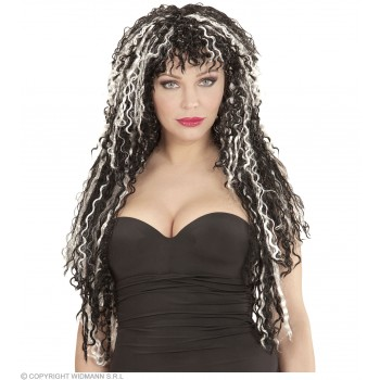 Long Vamp Wig In Polybag 6Colours - Fancy Dress (Halloween)