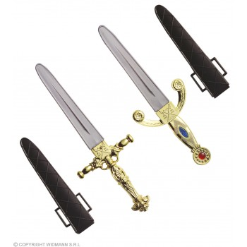 Dagger Decorated W/Scabbard - Fancy Dress