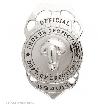 Pecker Inspector Badge - Fancy Dress