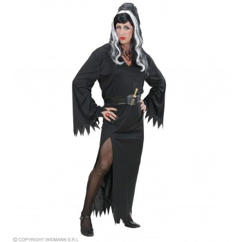 Xl Male Elvira Dress, Belt, Dagger Fancy Dress Costume (Drag)