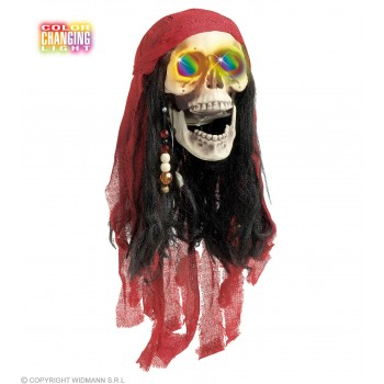 Colour Changing Pirate Skulls 60Cm - Fancy Dress (Pirates)