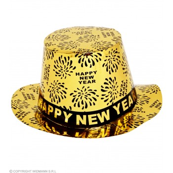 Top Hat New Year Print - Gold - Fancy Dress