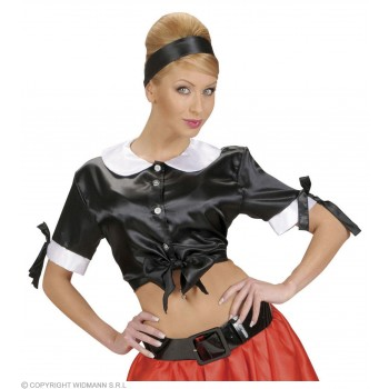 Satin Black Tie Tops - Fancy Dress