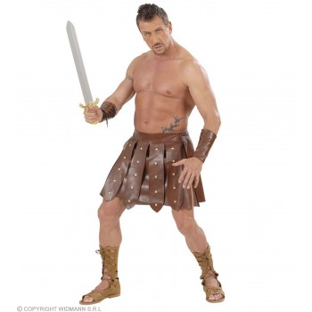 Gladiator Skirt/Armbands Fancy Dress Costume (Roman)
