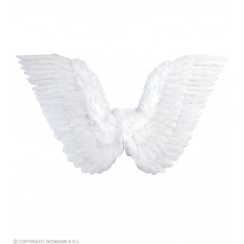 White Feathered Wings 71X45Cm - Fancy Dress (Christmas)