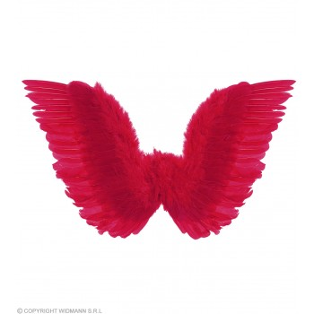 Red Feathered Wings 86X31Cm - Fancy Dress