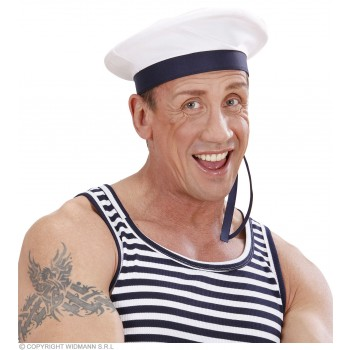 Sailor Hat With Ribbons - Fancy Dress (Sailor)