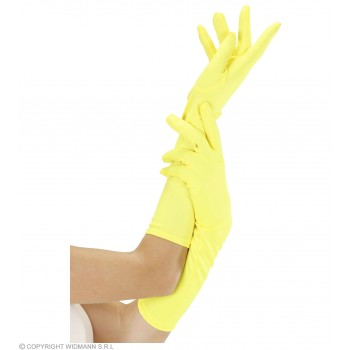 Ladies Neon Gloves Long - Yellow Gloves - (Yellow)
