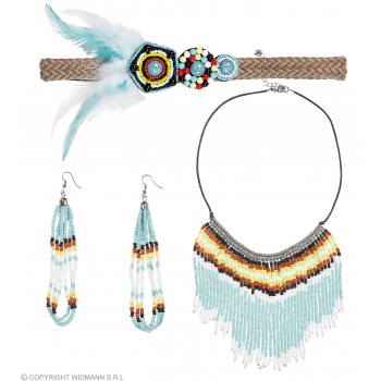 Ladies Native American Babe Set Fancy Dress Accessory