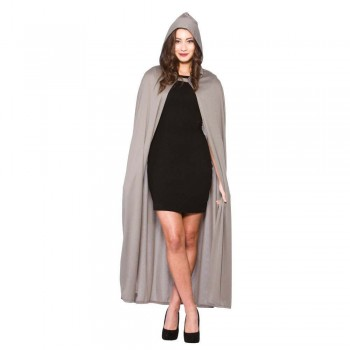Adult Hooded Cape 132cm - GREY Accessories