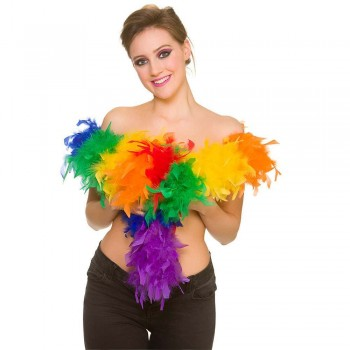 Feather Boa - Rainbow 60g/1.7m Feather Boas