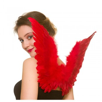 Feather Wings - Small - Red Halloween Accessory