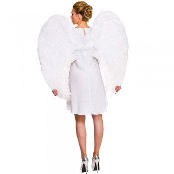 Giant Feather Wings 95x95cm - White Christmas Accessory