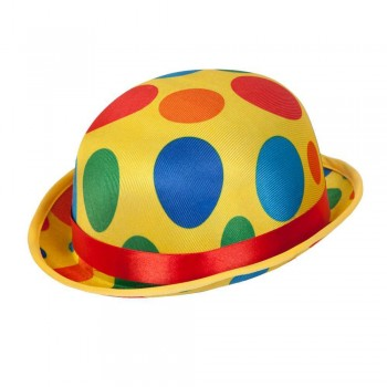 Clown Bowler Hat Circus Accessory