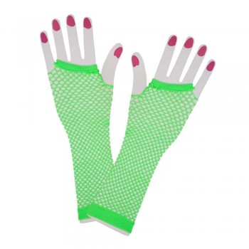 80's Net Gloves - Long - NEON GREEN Gloves (1980)