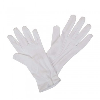 Gents White Gloves with Snap Wrist Closure Gloves