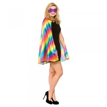 Super Hero Cape w/mask - RAINBOW/PRIDE Accessories