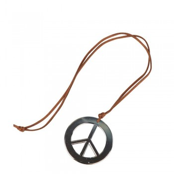 Hippie Peace Sign Necklace Jewellery