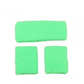 80's Sweatband & Wristbands - NEON GREEN Accessories (1980)