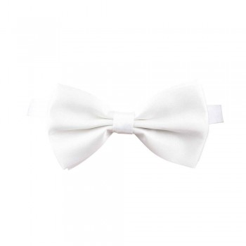 Satin Bow Tie - WHITE Accessories