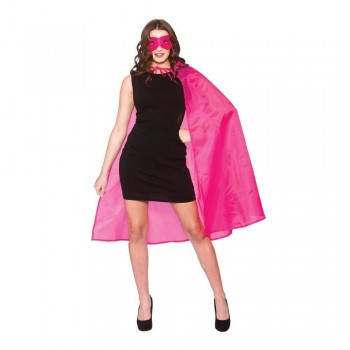 Super Hero Cape w/mask - HOT PINK Accessories