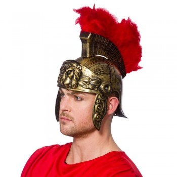 Roman Helmet with Feathers Head Wear