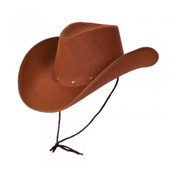 Texan Cowboy Hat - Brown Hats