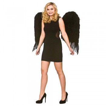 Extra Large Feather Wings 91x78cm - Black Wings