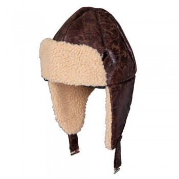 Aviator Hat with Faux Sheepskin Hats