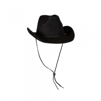 Cowboy Hat - Super Deluxe Black Suede Hats