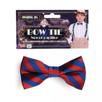 Striped Bow Tie Red and Blue