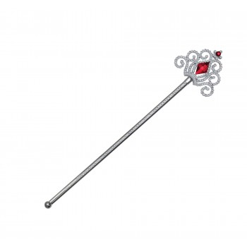 Silver Wand with Red Stones