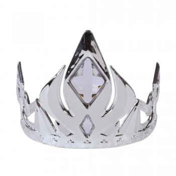 Silver Crown Tiara with Clear Stones