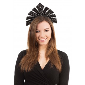 Black with Gems Carnival Headdress