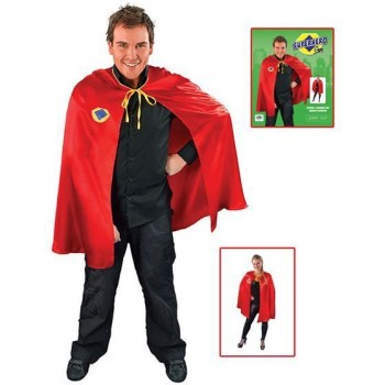 Superhero Cape. Red (Heroes , 1980S Fancy Dress)