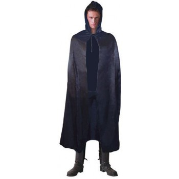 Hooded Cape, Satin 142Cm (Halloween Fancy Dress)