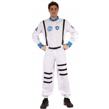 Mens Apollo Space Astronaut Fancy Dress Costume