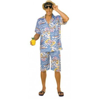 Hawaiian Man'S Fancy Dress Costume